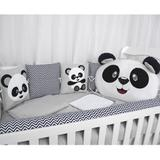 Kit De Berço Urso Panda Chevron - Bruna baby