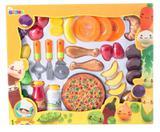 Kit de comidinhas e pizza grande com fruta 36 peças infantil - Belfix