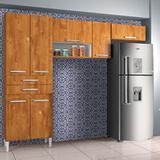 Kit de Cozinha Tamara 7 PT 2 GV Caramelo - Chf móveis