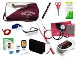 Kit de Enfermagem Completo com Aparelho de Pressão Premium Vinho
