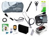 Kit de Enfermagem Super Luxo com Aparelho de Pressão Cinza Premium