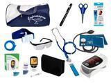Kit de Enfermagem Super Luxo com Aparelho de Pressão Premium Azul Marinho