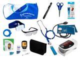 Kit de Enfermagem Super Luxo com Aparelho de Pressão Premium Azul