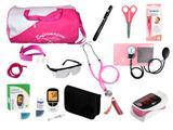 Kit de Enfermagem Super Luxo com Aparelho de Pressão Premium Pink