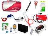 Kit de Enfermagem Super Luxo com Aparelho de Pressão Vermelho Premium
