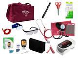 Kit de Enfermagem Super Luxo com Aparelho de Pressão Vinho Premium c/ Bolsa modelo 2