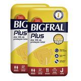 Kit de Fraldas Adultas Bigfral Plus Juvenil - 22 Unidades