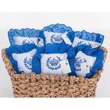 Kit de Lembranças para Bebê Marina 06 Peças com Bordado - Coroa Azul - Aconstantini