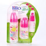 Kit de mamadeiras lillo evolução rosa