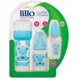 Kit de mamadeiras lillo primeiros passos azul