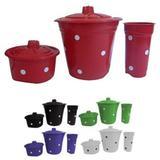 Kit De Pia Lixeira Porta Detergente Sabão Cesto Lixo Cozinha - Rae plasticos