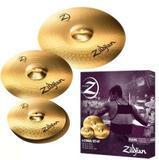Kit De Pratos Zildjian Planet Z Plz4pk 14 14 16 20 - Zildjan