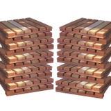Kit Deck Modular 30cmx30cm com 20 Placas Madeira Eucalipto Isabela Revestimentos Bege