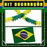 Kit Decoração 3 itens Brasil Modelo 1 - Festabox