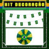 Kit Decoração 3 itens Brasil Modelo 2 - Festabox