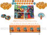Kit Decoração de Festa Dragon Ball * Painel + Toalha de mesa + Faixa + 25 Balões + 40 Forminhas doces + Vela - Festcolor