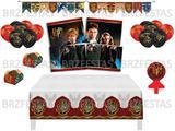 Kit Decoração de Festa Harry Potter * Painel Toalha Faixa Balões Forminhas Vela - Festcolor