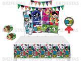 Kit Decoração de Festa Jovens Titãs * Painel + Vela + Toalha de Mesa + Faixa + 40 Forminhas p/ doces - Festcolor