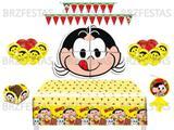 Kit Decoração de Festa Magali * Painel + Toalha de mesa + Faixa + 25 Balões + 40 Forminhas + Vela - Festcolor