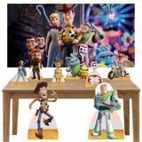 Kit decoração de festa totem 8pçs+painel - Toy Story 4 - Inove adesivos