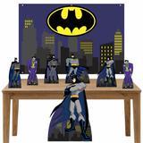 Kit decoração de festa Totem Display 7pçs+painel - Batman - Inove adesivos