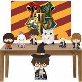 Kit decoração de festa totem display 7pçs+painel- Hary Potter - Inove adesivos