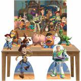 Kit decoração de festa totem display 8pçs+painel- Toy Story - Inove adesivos