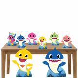 Kit Decoração de Festa Totem Display Baby Shark - 8 Peças - Inove adesivos