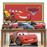 Kit decoração de festa totem display MDF-7pçs+painel- Carros - Inove adesivos