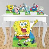Kit decoração de festa totem e display 7pçs - Bob Esponja - Inove adesivos