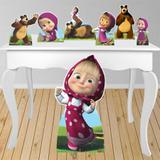 Kit decoração de festa totem e display 7pçs - Masha e o urso - Inove adesivos