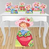 Kit decoração de festa totem e display 7pçs - Moranguinho - Inove adesivos