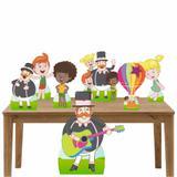 Kit decoração de festa totem e display 7pçs - Mundo Bita - Inove adesivos
