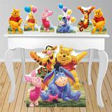 Kit decoração de festa totem e display 7pçs - Ursinho Pooh - Inove adesivos