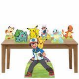 Kit decoração de festa  totem e display 7peças - Pokemon - Inove adesivos
