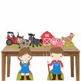 Kit decoração de festa totem e display 8pçs - Fazendinha - Inove adesivos