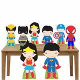 Kit decoração de festa totem e display 8pçs - Heróis Baby - Inove adesivos