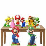 Kit decoração de festa totem e display 8pçs - Super Mario - Inove adesivos