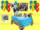 Kit Decoração de Festa Vingadores * Painel + 25 Balões + Vela + Toalha Mesa + 06 Display de Mesa - Regina