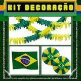 Kit Decoração Escritório Grande 7 itens Brasil - Festabox