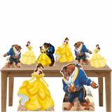 Kit Decoração Festa Totem Display A Bela e a Fera - 8 Peças - Inove adesivos