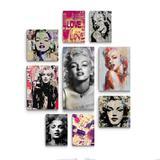 Kit Decoracao Marilyn Monroe 9 peças vintage para sala e quarto - Rcs decorações