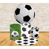 Kit Decoração Mini Table  Futebol Campo e Bola - Fabrika de festa