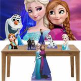 Kit decoração Totem Display 7pçs+painel - Frozen - Inove adesivos