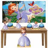 Kit decoração Totem Display 7pçs+painel- Princesinha Sophia - Inove adesivos
