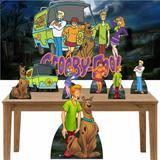 Kit decoração Totem Display 7pçs+painel - Scooby Doo - Inove adesivos