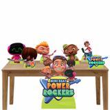 Kit decoração totem e display 7peças-Mini Beat Power Rockers - Inove adesivos