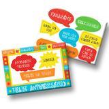 Kit Decorativo Cartonado Feliz Aniversário Festcolor - Festabox
