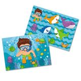 Kit Decorativo Cartonado Fundo do Mar Festcolor - Festabox