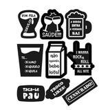 Kit Decorativo Plaquinhas Divertidas Balada Mod.12 9 itens Duster - Festabox